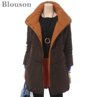 Stand-collar Padded Coat