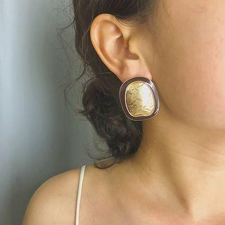 Alloy Disc Earring 1361 - Gold - One Size