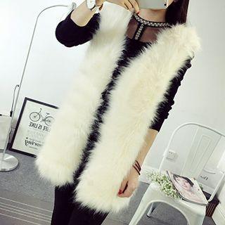 Faux Fur Long Vest