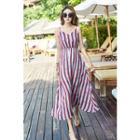 Strappy Striped Midi Sun Dress
