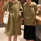 Loose-fit Embroidered Hoodie / Embroidered Hooded Dress