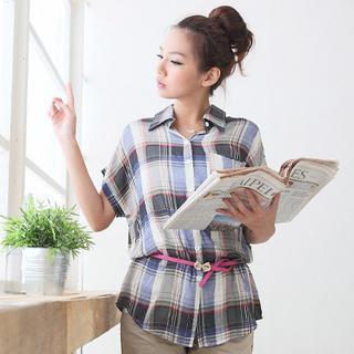 Loose-fit Plaid Shirt