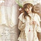 Lace Panel Ruffle Cardigan