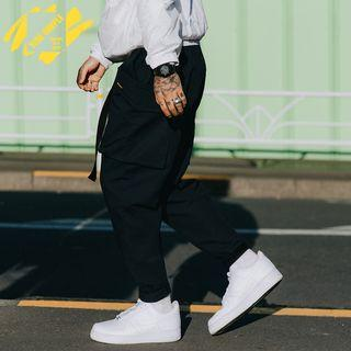 Hook And Loop Hem Cargo Pants