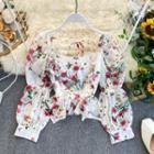 Floral Chiffon Blouse Floral - White - One Size