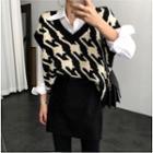 Houndstooth Knit Vest