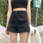 Flap Pocket Denim Shorts