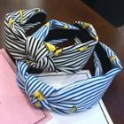 Printed Striped Knot Headband