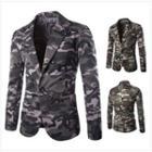 Camo One Buttoned Blazer