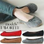 Quilted Faux-suede Flats