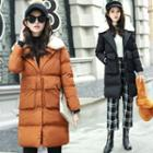 Furry Collared Padded Coat