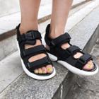 Self-fastener Strappy Sandals