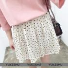 Dotted Pleated Chiffon Skirt