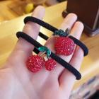 Rhinestone Apple / Cherry Hair Tie