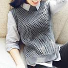Plain Sleeveless Knit Vest