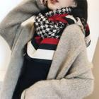 Houndstooth Fringed Trim Scarf As Shown In Figure - 200 X 65cm