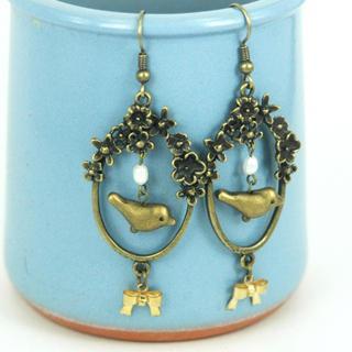 Honey Bird Earrings One Size