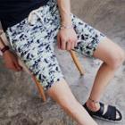 Drawstring Camo Shorts