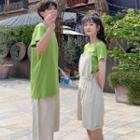 Couple Matching Plain Short-sleeve T-shirt / Jumper Shorts / Shorts