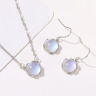 Ball Earring 01 - 12121 - 1 Pair - White - One Size