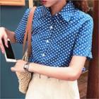 Short-sleeve Polka-dot Shirt