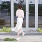 Asymmetric-hem Long Skirt