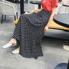 Polka Dot Maxi A-line Chiffon Skirt