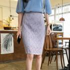 Crinkled Lace Skirt
