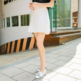 Inset Shorts Pleated Skirt