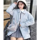 Drawstring Hem Padded Jacket