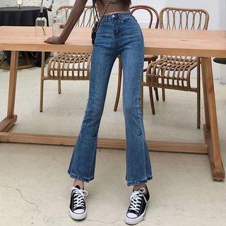 High Rise Boot-cut Jeans