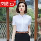 Printed Short-sleeve Shirt / Pencil Skirt / Set
