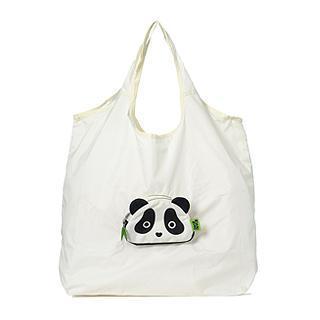 Panda Eco Bag (l) Creamy White - L