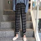 Plaid Elastic Cuff Pants