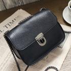 Faux Leather Chain Strap Shoulder Bag