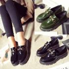 Platform Faux Patent Leather Loafers
