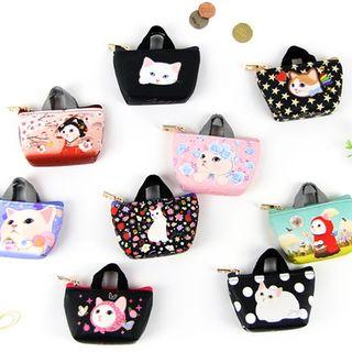 Choo Choo Cat Series Coin Purse With Handle