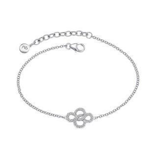 18k White Gold Eternity Love Knot Diamond Accent Bracelet (0.18 Cttw)