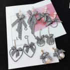 Check Bow Earrings (various Designs)