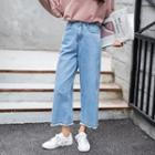 Frayed Wide-leg Jeans