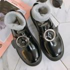 Round Buckled Loafers