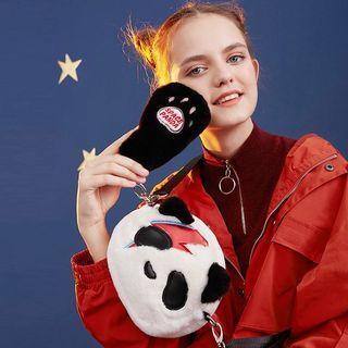 Panda Furry Crossbody Bag Panda - One Size