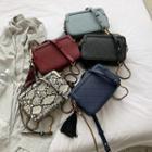 Tasseled Square Crossbody Bag