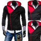 Asymmetrical Zip Hooded Jacket