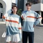 Couple Matching Color Panel Sweatshirt