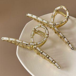 Rhinestone Acrylic Hair Clamp