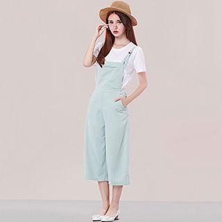Cropped Pinafore Jumpsuit