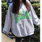 Lettering Long Sleeve Pullover