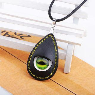Eye Genuine Leather Necklace