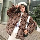 Leopard Patterned Furry Jacket